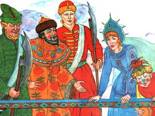 Несмеяна-царевна. Русские народные сказки.